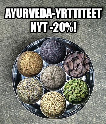 ayurveda-yrttiteet nyt -20% tarjoushintaan!