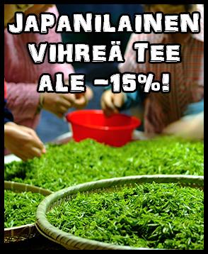 Japanilainen tee nyt ALE-hintaan -15%! Maista ja ihastu!