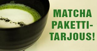 """Tilaa vähintään 3 matcha-tuotetta, niin saat ne -15% ALE-hintaan koodilla: """"MATCHA8""""! Tilaa esim. bambuvispilä, bambulusikka, kulho ja teetä!"""