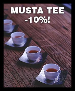 Tarjoamme nyt mustat teelaadut -10% tarjoushintaan. Tutustu valikoimaan ja tilaa laadukasta mustaa teetä!