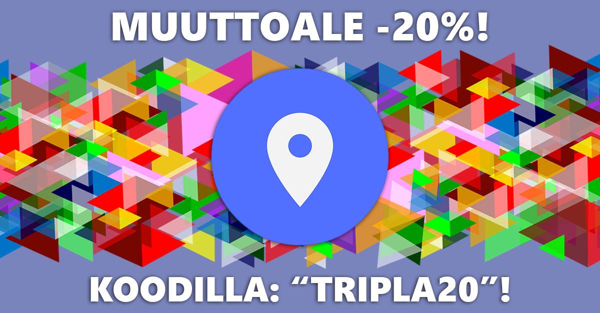 """Teekauppa siirtyy uusiin tiloihin Pasilan uuden rautatieaseman yhteyteen valmistuvaan Tripla-keskukseen. Nyt kaikki tuotteet -20% ALE-HINTAAN koodilla: """"TRIPLA20""""! Tilaa heti!"""