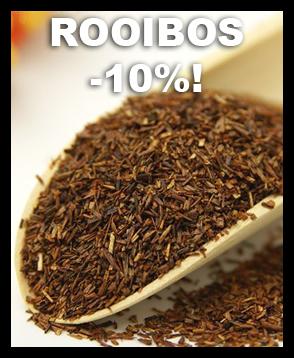 Tarjoamme nyt kaikki valikoiman rooibos-laadut -10% tarjoushintaan. Tutustu valikoimaan linkistä ja tilaa heti herkullista kofeiinitonta rooibosta!